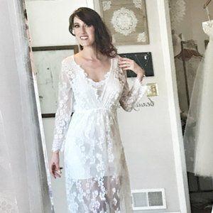 SHEER Dress Overlay for Budiour or Simple Wedding